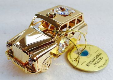 24K Gold Plated CAR TAXI Spectra Crystal Lite Catcher